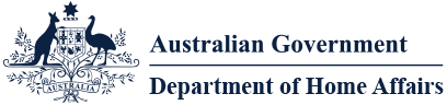 Logo of Department of Home Affairs